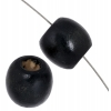Wooden Beads Oval 12x12mm Black